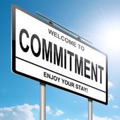 Commitment concept. — Stock Photo