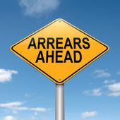 Arrears concept. — Stock Photo