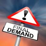 Final demand concept. — Stock Photo #12111572