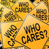 Who cares. — Stock Photo