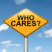 Who cares. — Stok fotoğraf