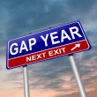 Gap year concept. - Stock Photo
