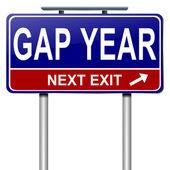 Gap year-konzept. — Stockfoto