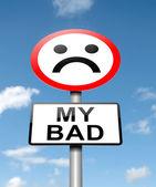 My bad. — Stock Photo