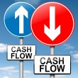 Cash flow concept. — Foto de Stock