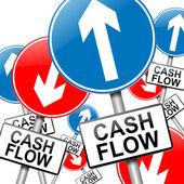 Cash flow concept. — Stock Photo