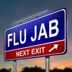 Flu alert concept. — Stock Photo