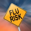 Stock Photo: Flu alert concept.