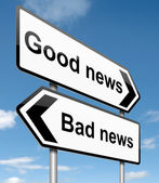 Good or bad news. — Stock Photo