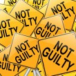 Stock Photo: Not guilty concept.
