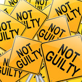 Not guilty concept. — Stock Photo