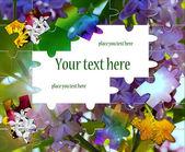 Letní a jarní pozadí z květiny puzzle — Stock fotografie