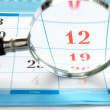 Magnifying glass and a calendar — Stock Photo #12213445