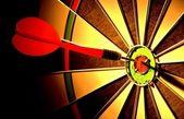 Arrows and darts target — Stock Photo
