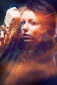 Beautiful gipsy woman — Stock Photo