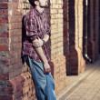 Young man waiting for someone - Stock Photo