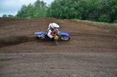 Virant avec grande pente de motocross — Photo