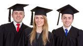 Graduate trio — Stock Photo