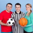 Stock Photo: Group of with sports balls