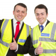 Stock Photo: Two security guards together