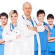 图库照片: Doctor and his team