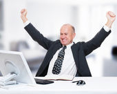 Businessman working in his office — Stock Photo