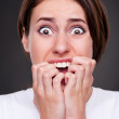 Shocked and screaming woman — Stock Photo