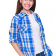 Young woman in checked shirt — Lizenzfreies Foto