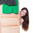Woman changing her clothes — Stock Photo #11857771