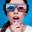 Emotional woman in 3d glasses — Stock Photo #12325711