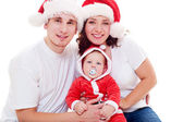 Portrait of cheerful christmas family — Stock Photo