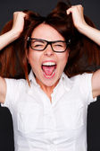 Shouting girl — Stock Photo