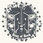 Постер, плакат: Symbol king of rock