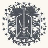 Symbol king of rock — Stock Vector