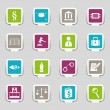Law and Order Icons — Imagen vectorial