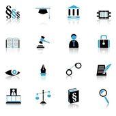 Iconos de justicia — Vector de stock