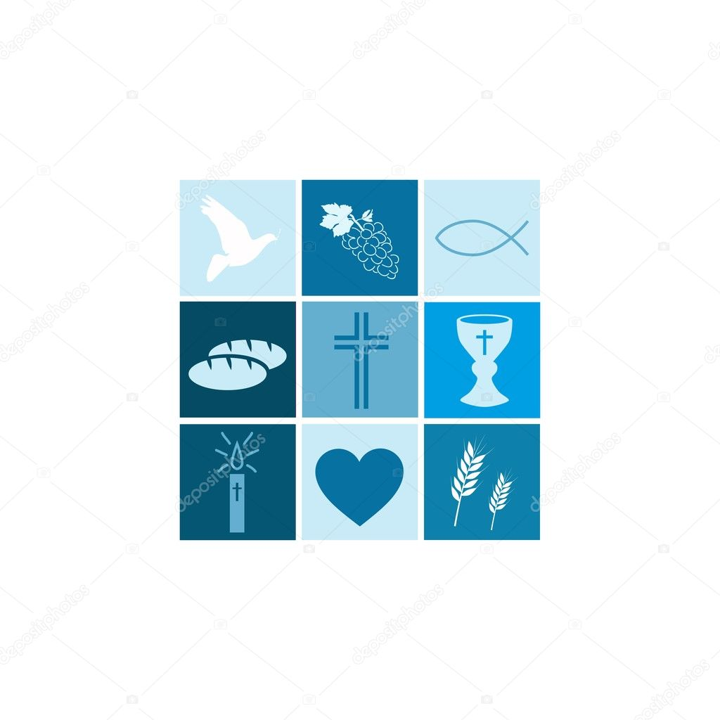 Communion Boy isolated on white background — Stock Vector #10925596