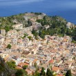 The town of Taormina, in sicily - Stock Photo