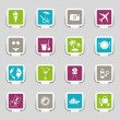 Royalty-Free Stock Vector Image: Paper cut - Vacation icons - Part 2