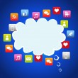 Cloud social media — Stock Vector