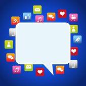Bubble dialog social media — Stock Vector