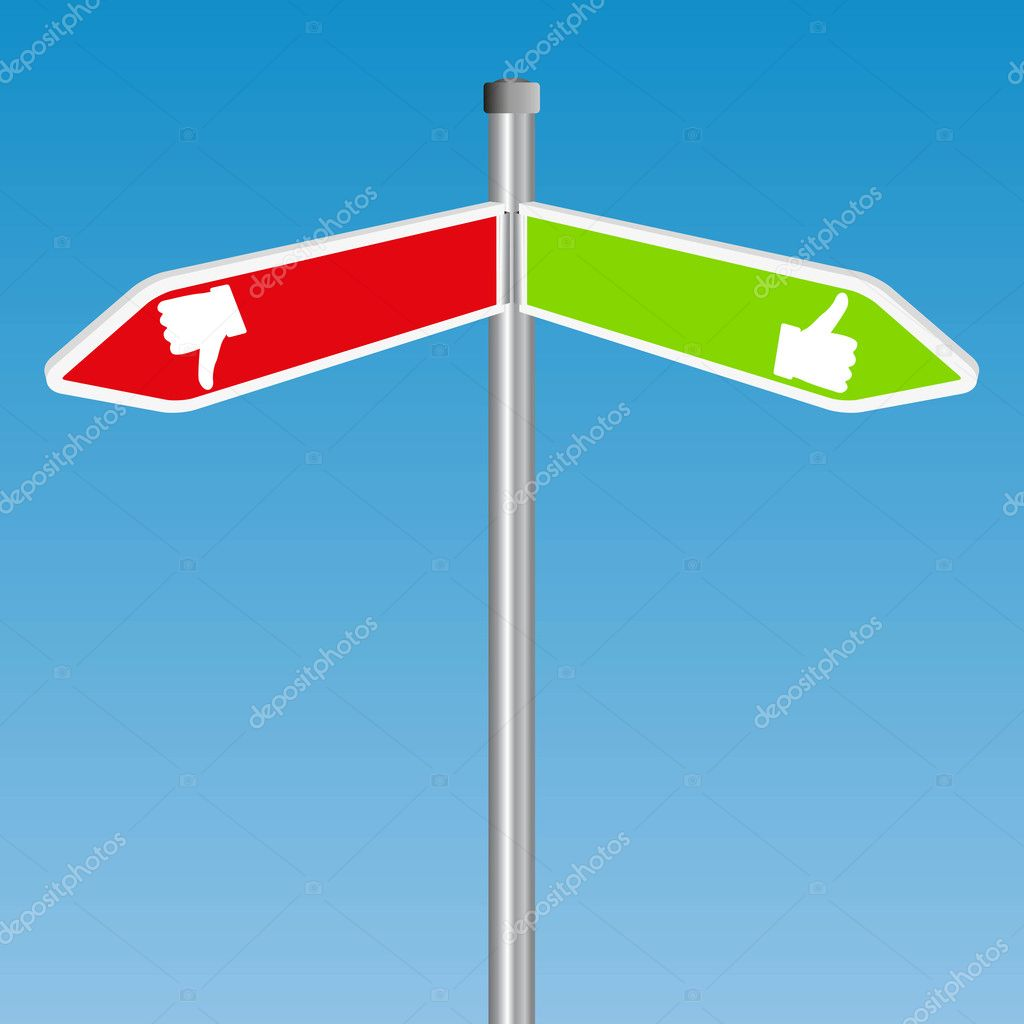 Positive And Negative Signs Positive Like Sign With Negative Unlike Sign on Blue Vector by hs Photos
