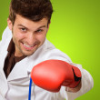 Doctor In Red Boxing Handglove  — Stock Photo