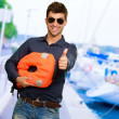 Happy Young Man Showing Thump Up — Stock Photo #11658492