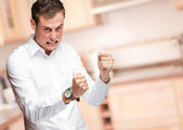Portrait Of Frustrated Young Man — Stock Photo