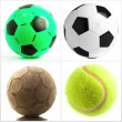 Set Of Different Balls - 图库照片