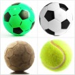 Set Of Different Balls - Stockfoto