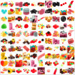 Stock Photo: Sweet Collection Isolated