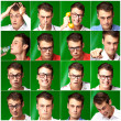 Series Of Expressive Man - Stock Photo