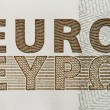 Euro text - Stock Photo